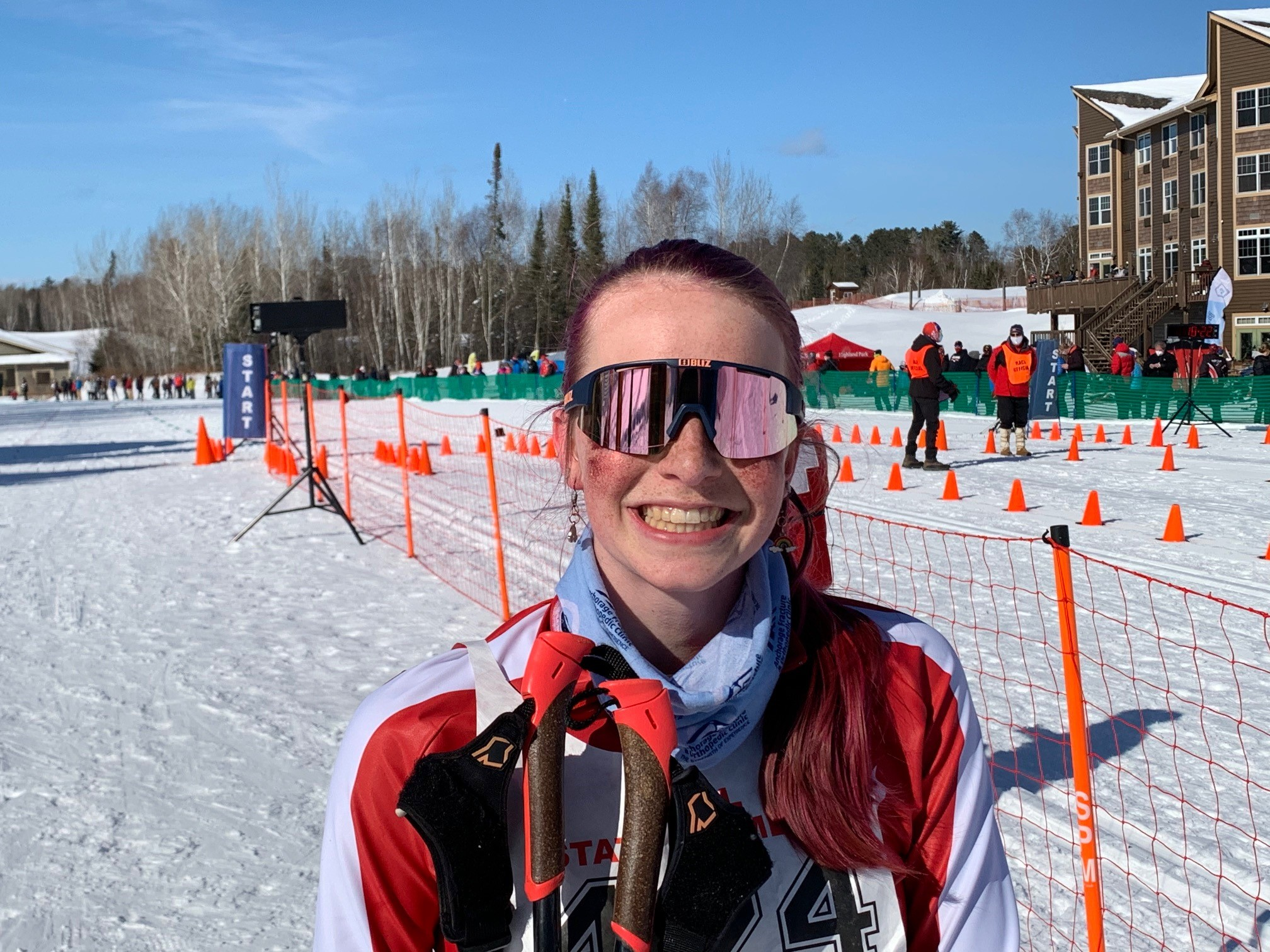 Moening repeats as Nordic Skiing champion