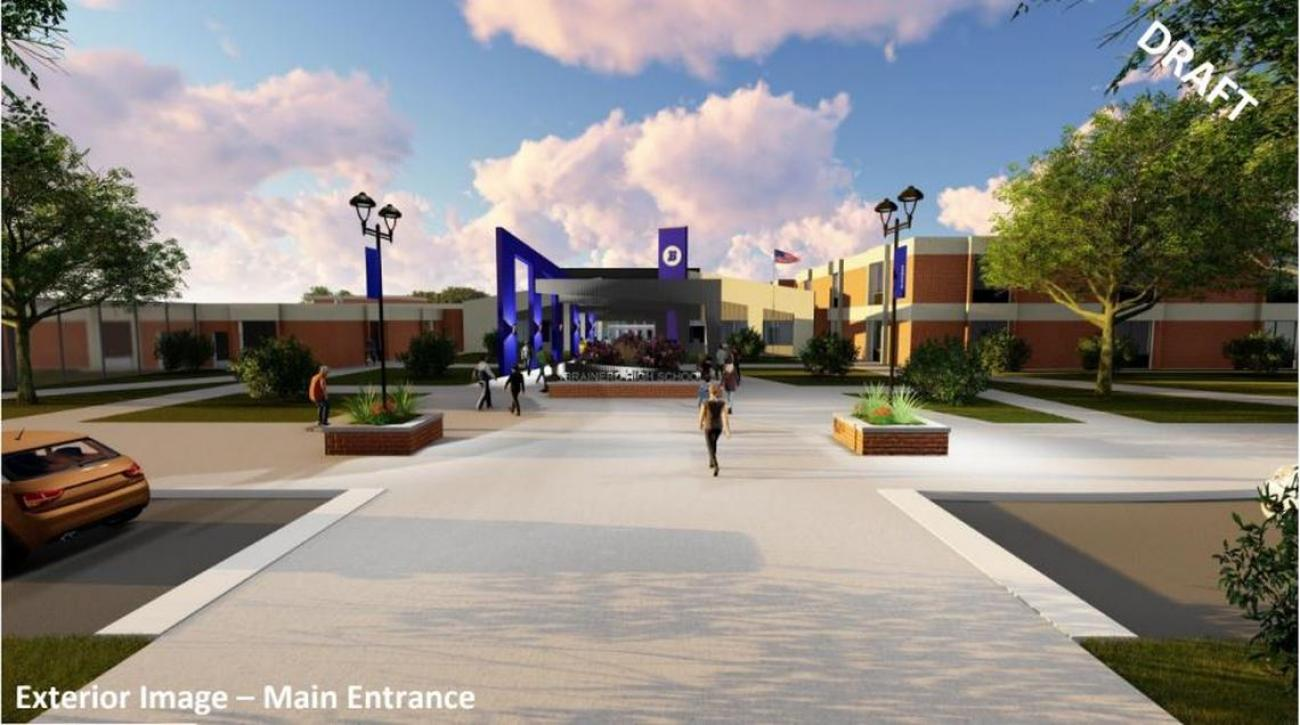 Brainerd High School Remodel Rendering-Courtesy of ICS and WSN