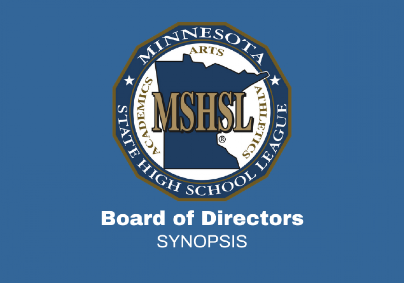 Board of Directors Meeting Synopsis, April 15, 2021