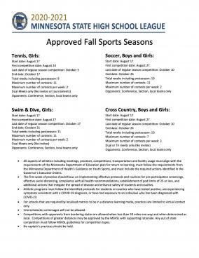 Photo Fall Approved Sports Season