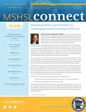 Catch up on the latest news with the September edition of MSHSL Connect