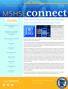 Read the latest edition of the MSHSL Connect